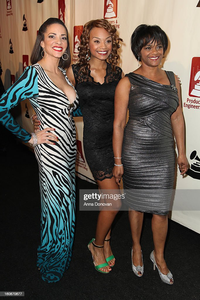 Actress Tyra Colar(center) attends the producers & engineers wing of the recording Academy's 6th Annual GRAMMY Event 'An Evening Of Jazz' at The Village Recording Studios on February 6, 2013 in Los Angeles, California.