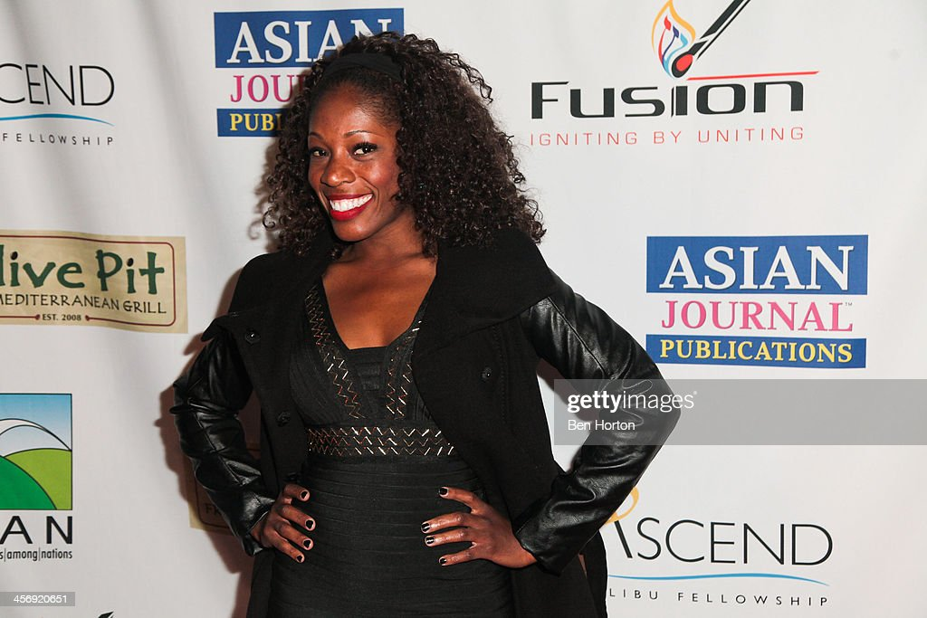 Actress Tysha Williams attends the Span Philippines Relief And Fusion Global Fundraiser at Malibu West Beach Club on December 15, 2013 in Malibu, California.