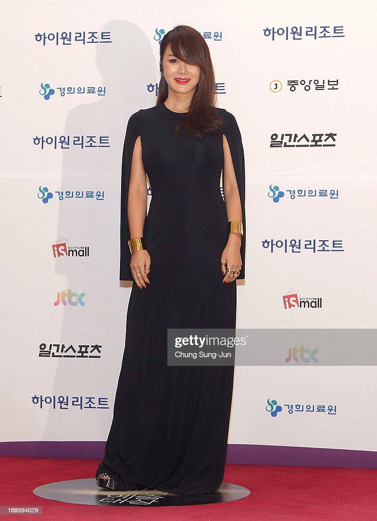 Actress Uhm Jung-Hwa arrives for the 49th Paeksang Arts Awards on May 9, 2013 in Seoul, South Korea.
