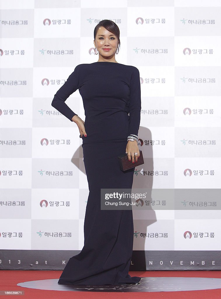 Actress Uhm Jung-Hwa arrives for the 50th Daejong Film Awards at KBS hall on November 1, 2013 in Seoul, South Korea.