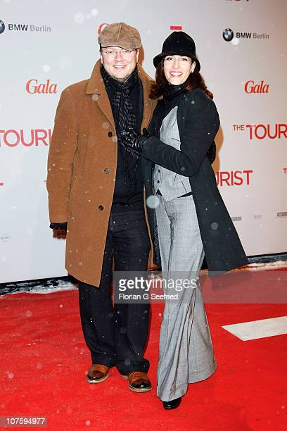 Actress Ulrike Frank and Marc Schubring attend the European Premiere of 'The Tourist' at CineStar at Potsdamer Platz on December 14 2010 in Berlin...