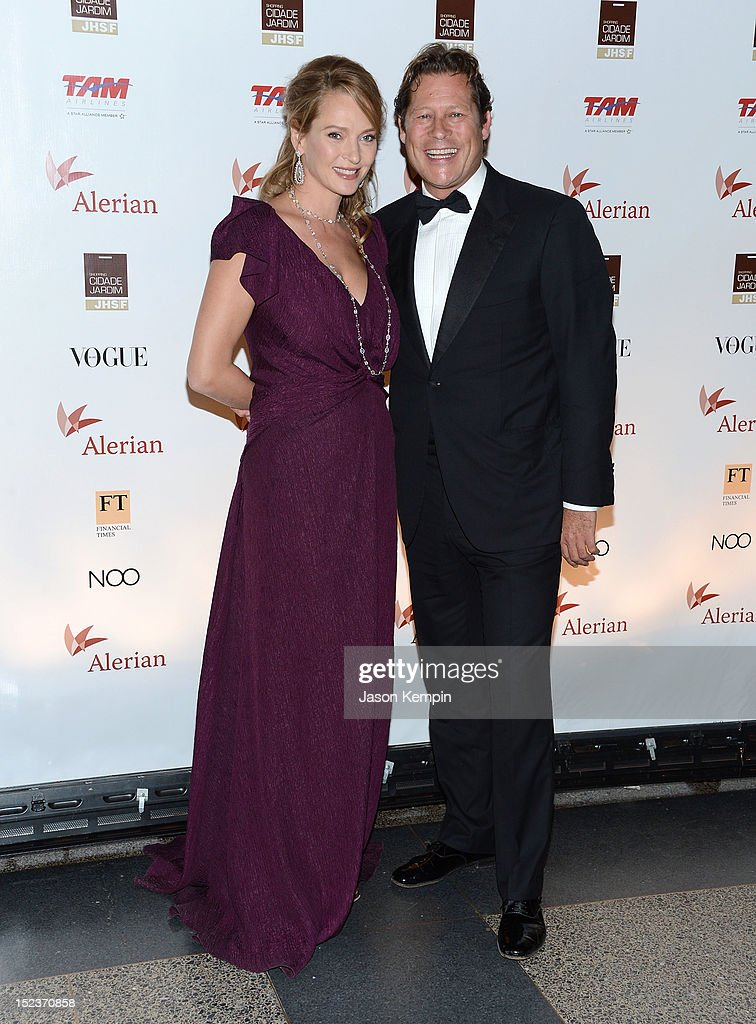 Actress <a gi-track='captionPersonalityLinkClicked' href=/galleries/search?phrase=Uma+Thurman&family=editorial&specificpeople=171973 ng-click='$event.stopPropagation()'>Uma Thurman</a> and <a gi-track='captionPersonalityLinkClicked' href=/galleries/search?phrase=Arpad+Busson&family=editorial&specificpeople=2326600 ng-click='$event.stopPropagation()'>Arpad Busson</a> attend the Annual Brazil Foundation Gala Party at the American Museum of Natural History on September 19, 2012 in New York City.
