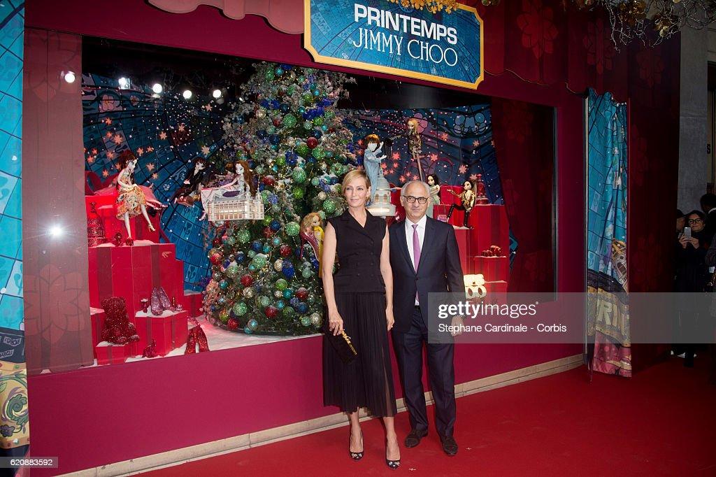 Le Printemps Christmas Decorations Inauguration In Paris