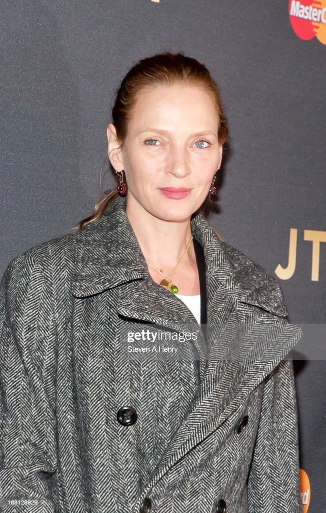 Actress <a gi-track='captionPersonalityLinkClicked' href=/galleries/search?phrase=Uma+Thurman&family=editorial&specificpeople=171973 ng-click='$event.stopPropagation()'>Uma Thurman</a> arrives at MasterCard Priceless Premieres Presents Justin Timberlake Roseland Ballroom on May 5, 2013 in New York City.