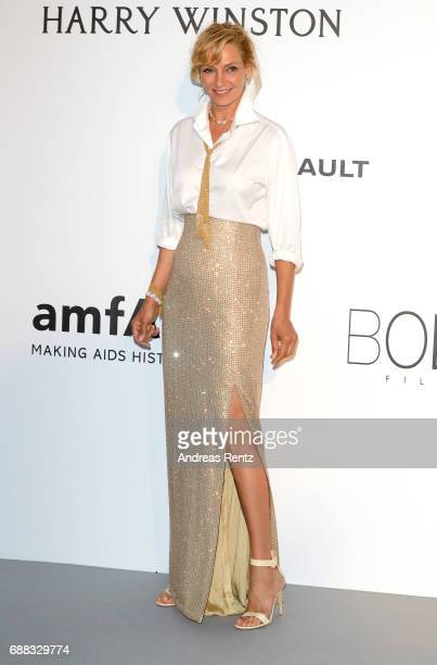 Actress Uma Thurman arrives at the amfAR Gala Cannes 2017 at Hotel du CapEdenRoc on May 25 2017 in Cap d'Antibes France