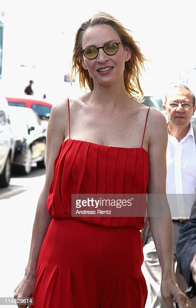 Actress Uma Thurman at the Palais des Festivals during the 64th Annual Cannes Film Festival on May 18 2011 in Cannes France