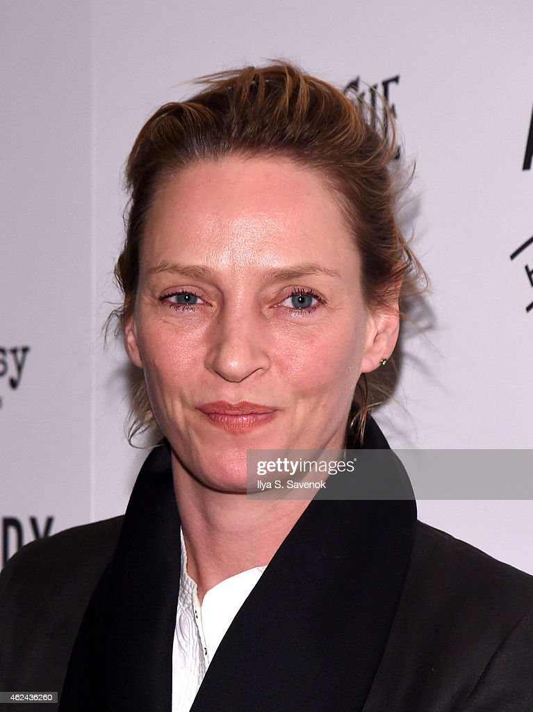 Actress <a gi-track='captionPersonalityLinkClicked' href=/galleries/search?phrase=Uma+Thurman&family=editorial&specificpeople=171973 ng-click='$event.stopPropagation()'>Uma Thurman</a> attends 2015 House Of SpeakEasy Gala at City Winery on January 28, 2015 in New York City.
