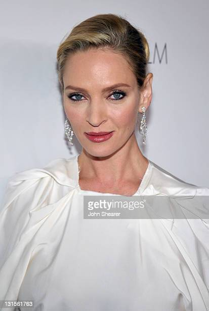 Actress Uma Thurman attends LACMA Art Film Gala Honoring Clint Eastwood and John Baldessari Presented By Gucci at Los Angeles County Museum of Art on...
