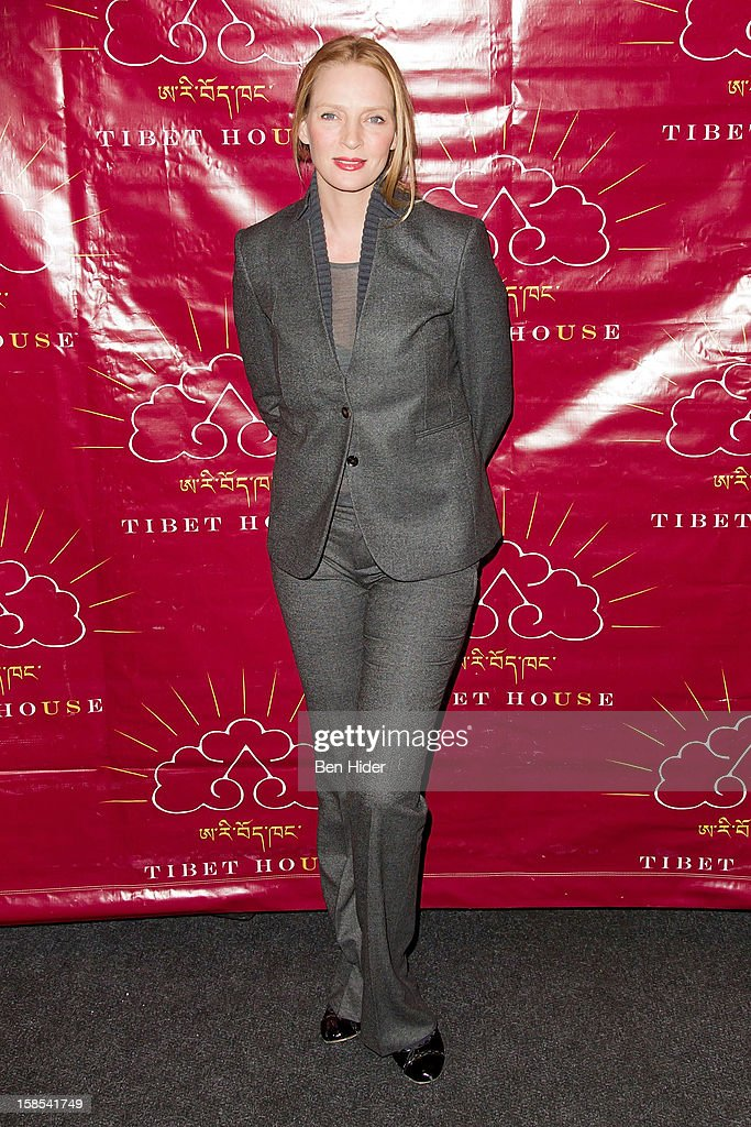 Actress Uma Thurman attends the 10th annual Tibet House Benefit Auction at Christie's Auction House on December 18, 2012 in New York City.