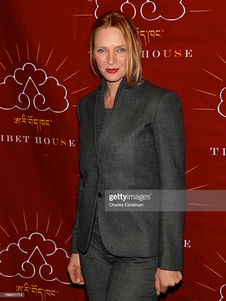 Actress <a gi-track='captionPersonalityLinkClicked' href=/galleries/search?phrase=Uma+Thurman&family=editorial&specificpeople=171973 ng-click='$event.stopPropagation()'>Uma Thurman</a> attends the 10th annual Tibet House Benefit Auction at Christie's Auction House on December 18, 2012 in New York City.