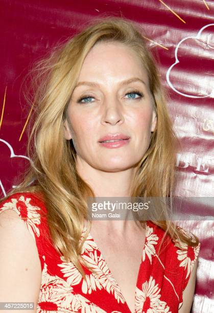 Actress Uma Thurman attends the 11th annual Tibet House US Benefit Auction at Christie's Auction House on December 16 2013 in New York City