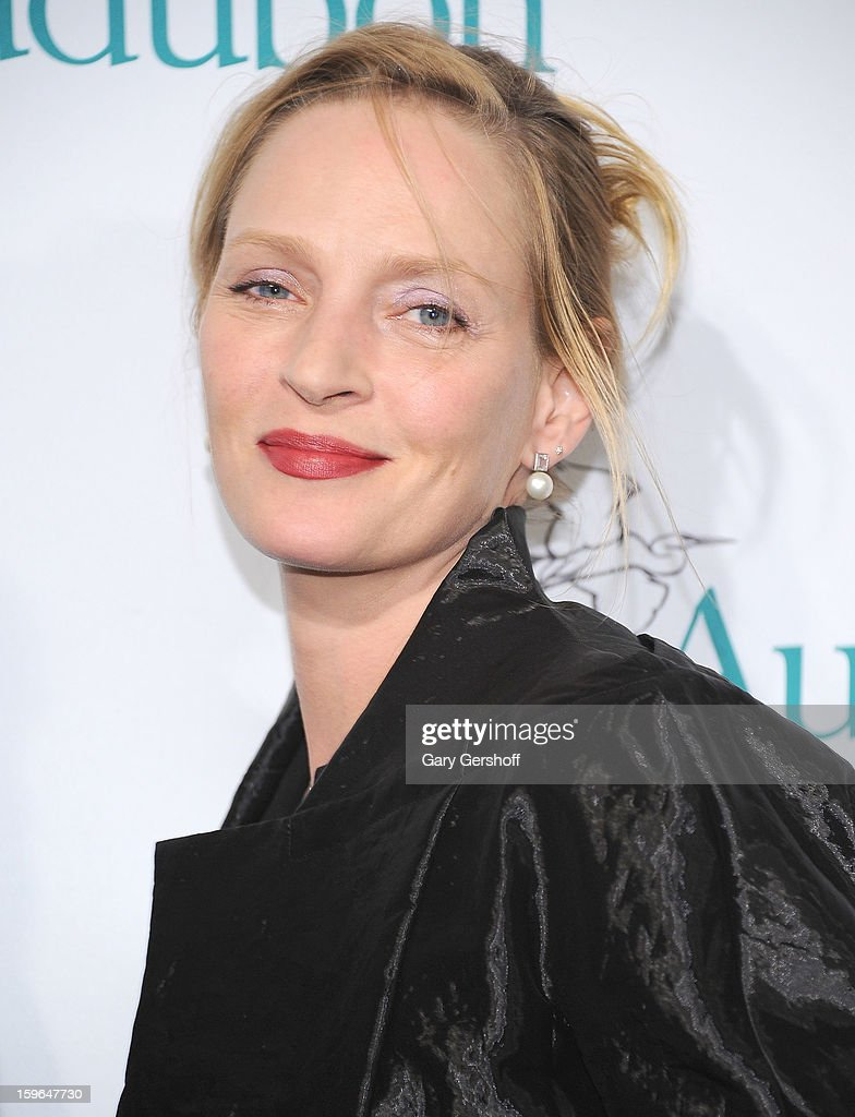 Actress <a gi-track='captionPersonalityLinkClicked' href=/galleries/search?phrase=Uma+Thurman&family=editorial&specificpeople=171973 ng-click='$event.stopPropagation()'>Uma Thurman</a> attends the 2013 National Audubon Society Gala Dinner at The Plaza Hotel on January 17, 2013 in New York City.