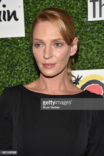 Actress Uma Thurman attends the 2015 Couture Council luncheon honoring Manolo Blahnik at David H Koch Theater Lincoln Center on September 9 2015 in...