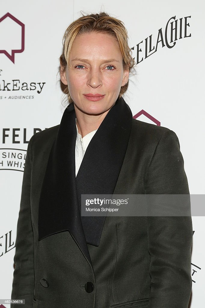 Actress Uma Thurman attends the 2015 House Of SpeakEasy Gala at City Winery on January 28, 2015 in New York City.