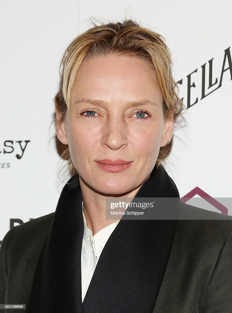 Actress <a gi-track='captionPersonalityLinkClicked' href=/galleries/search?phrase=Uma+Thurman&family=editorial&specificpeople=171973 ng-click='$event.stopPropagation()'>Uma Thurman</a> attends the 2015 House Of SpeakEasy Gala at City Winery on January 28, 2015 in New York City.