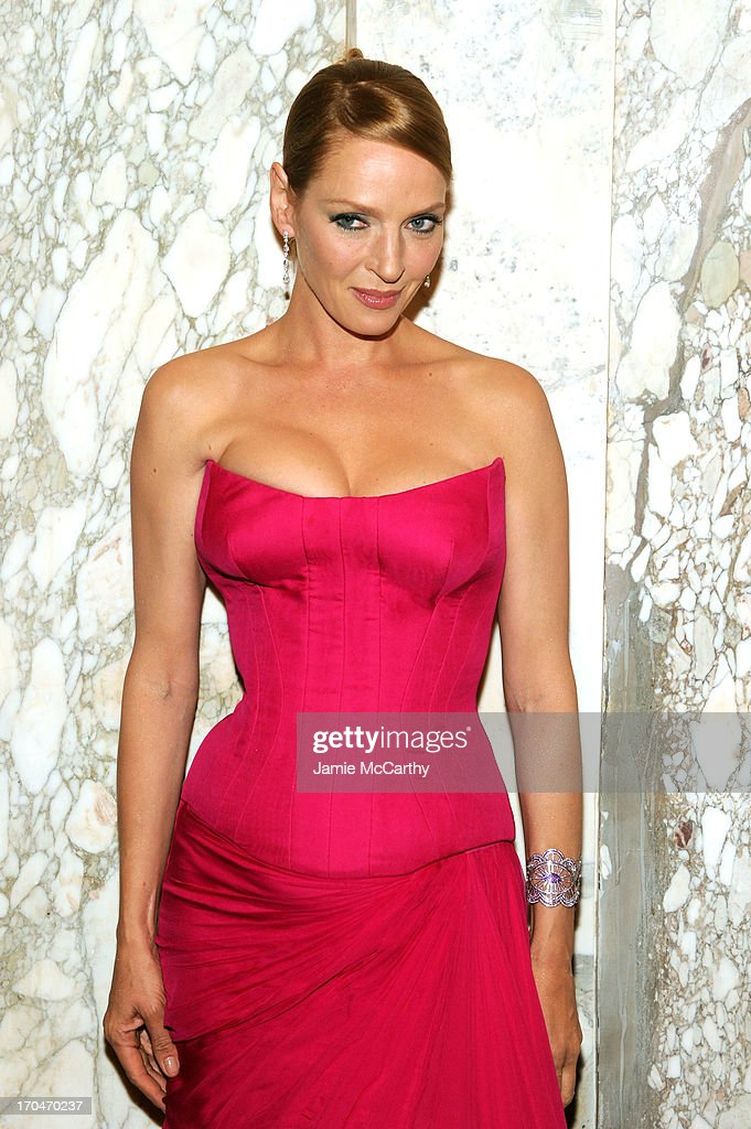 Actress Uma Thurman attends the 4th Annual amfAR Inspiration Gala New York at The Plaza Hotel on June 13, 2013 in New York City.