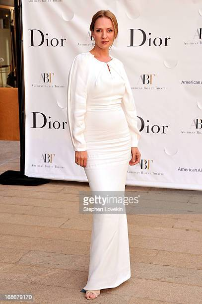 Actress Uma Thurman attends the American Ballet Theatre opening night Spring Gala at Lincoln Center on May 13 2013 in New York City