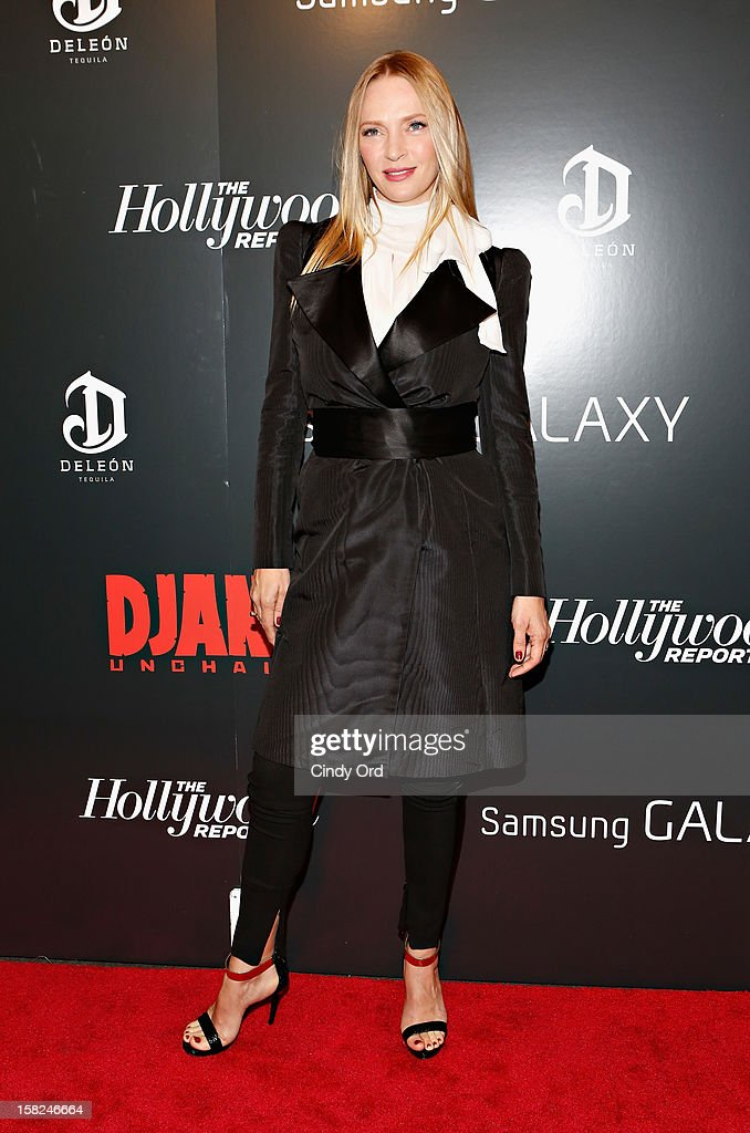 Actress <a gi-track='captionPersonalityLinkClicked' href=/galleries/search?phrase=Uma+Thurman&family=editorial&specificpeople=171973 ng-click='$event.stopPropagation()'>Uma Thurman</a> attends the Django Unchained NY premiere at Ziegfeld Theatre on December 11, 2012 in New York City.