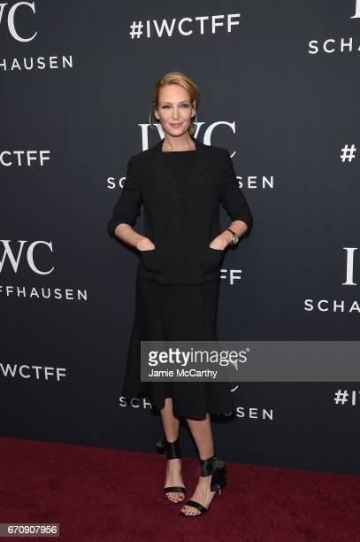 Actress Uma Thurman attends the exclusive gala event 'For the Love of Cinema' during the Tribeca Film Festival hosted by luxury watch manufacturer...