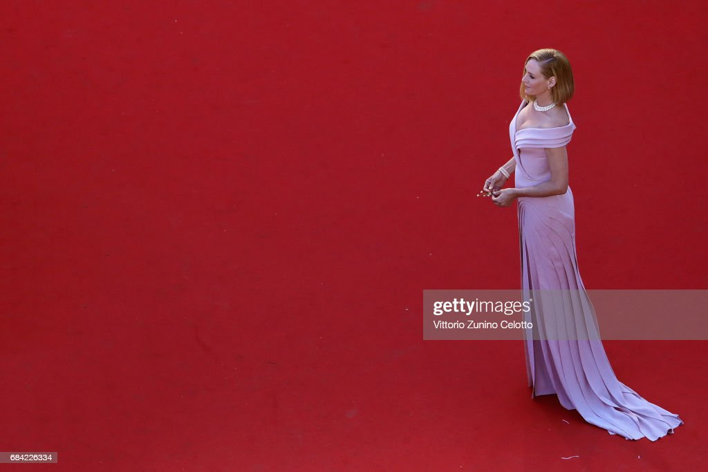 Actress Uma Thurman attends the 'Ismael's Ghosts (Les Fantomes d'Ismael)' screening and Opening Gala during the Opening Ceremony of the 70th annual Cannes Film Festival at Palais des Festivals on May 17, 2017 in Cannes, France.