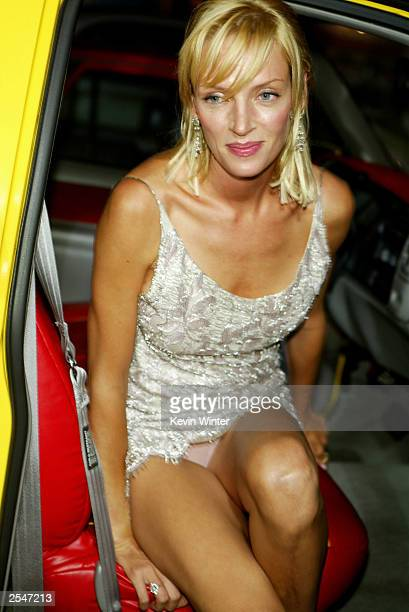 Actress Uma Thurman attends the Los Angeles premiere of the Miramax film 'Kill Bill Volume 1' at the Grauman's Chinese Theatre September 29 2003 in...