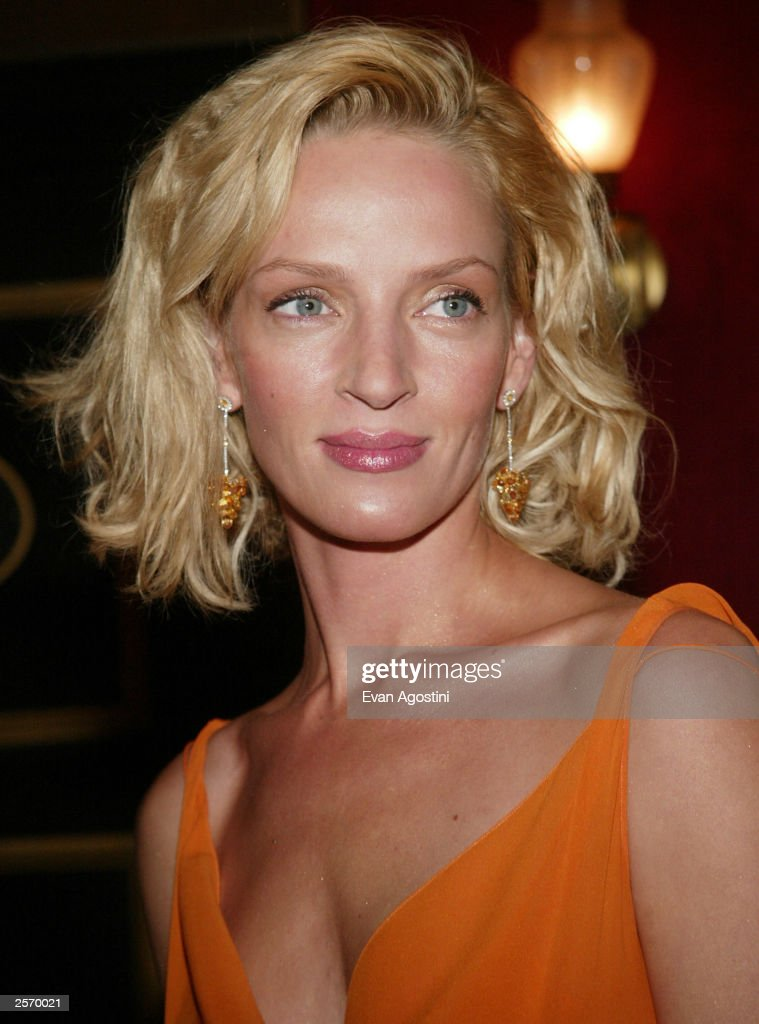 Actress <a gi-track='captionPersonalityLinkClicked' href=/galleries/search?phrase=Uma+Thurman&family=editorial&specificpeople=171973 ng-click='$event.stopPropagation()'>Uma Thurman</a> attends the New York premiere of Quentin Tarantino's 'Kill Bill Vol. 1' at the Ziegfeld Theater October 7, 2003 in New York City.