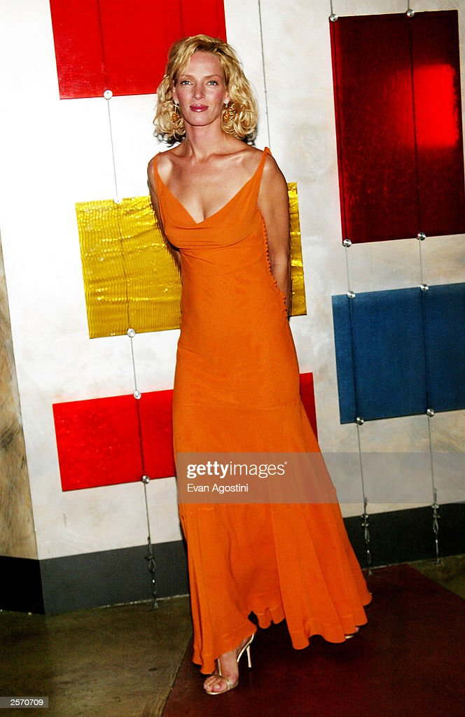 Actress <a gi-track='captionPersonalityLinkClicked' href=/galleries/search?phrase=Uma+Thurman&family=editorial&specificpeople=171973 ng-click='$event.stopPropagation()'>Uma Thurman</a> attends the New York Premiere of Quentin Tarantino's 'Kill Bill Vol. 1' after-party at Noche October 7, 2003 in New York City.