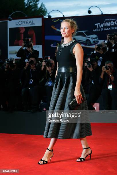Actress Uma Thurman attends the 'Nymphomaniac Volume 2 Directors Cut' premiere during the 71st Venice Film Festival on September 1 2014 in Venice...