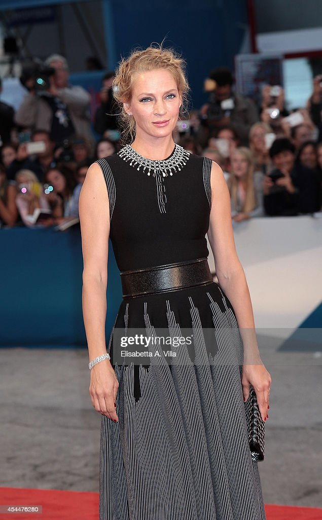 Actress Uma Thurman attends the 'Nymphomaniac: Volume 2 - Directors Cut' Premiere during the 71st Venice Film Festival on September 1, 2014 in Venice, Italy.