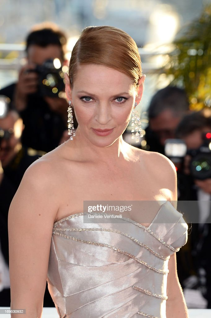 Actress Uma Thurman attends the Palme D'Or Winners Photocall during the 66th Annual Cannes Film Festival at Palais des Festivals on May 26, 2013 in Cannes, France.