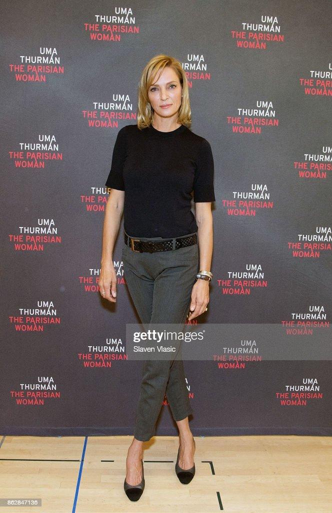Actress Uma Thurman attends 'The Parisian Woman' Press Meet & Greet at The New 42nd Street Studios on October 18, 2017 in New York City.