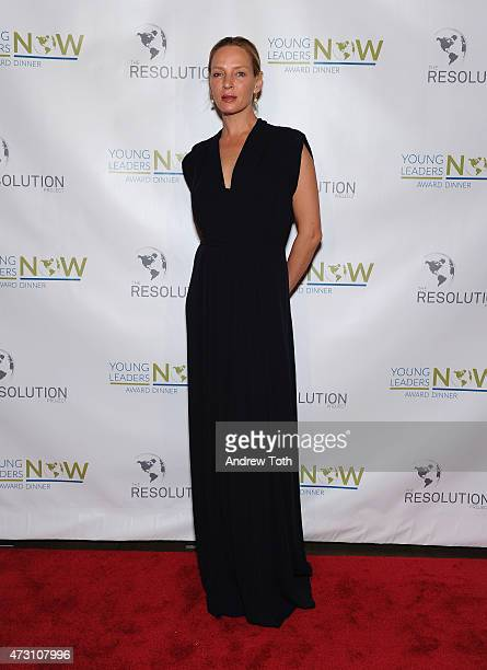 Actress Uma Thurman attends The Resolution Project Young Leaders Now award dinner 2015 on May 12 2015 in New York City