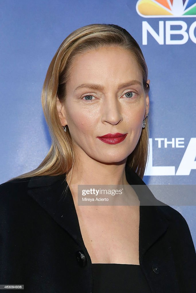 Actress <a gi-track='captionPersonalityLinkClicked' href=/galleries/search?phrase=Uma+Thurman&family=editorial&specificpeople=171973 ng-click='$event.stopPropagation()'>Uma Thurman</a> attends 'The Slap' New York Premiere Party at The New Museum on February 9, 2015 in New York City.