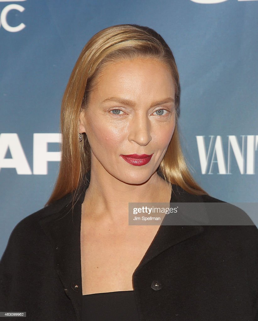 Actress Uma Thurman attends 'The Slap' premiere party at The New Museum on February 9, 2015 in New York City.