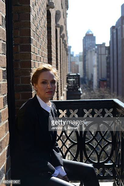 Actress Uma Thurman is photographed for Los Angeles Times on March 13 2014 in New York City