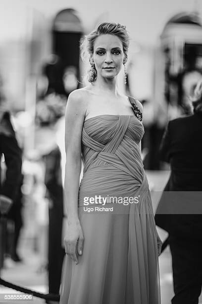 Actress Uma Thurman is photographed for Self Assignment on May 15 2016 in Cannes France
