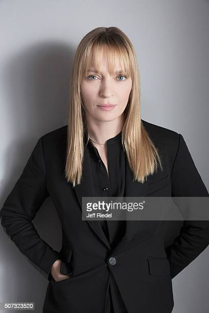 Actress Uma Thurman is photographed for TV Guide Magazine on January 16 2015 in Pasadena California
