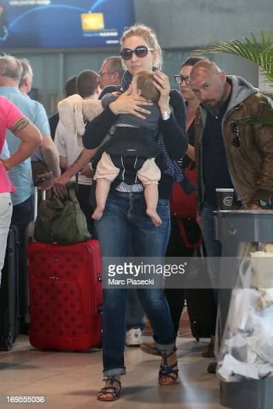 Actress Uma Thurman is sighted at Nice airport after the 66th Annual Cannes Film Festival on May 27 2013 in Nice France