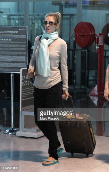 Actress Uma Thurman is sighted at Nice airport on May 23 2011 in Nice France