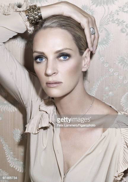 Actress Uma Thurman poses at a portrait session in Paris France for Madame Figaro Published image CREDIT MUST READ Felix Lammers/Figarophoto/Contour...