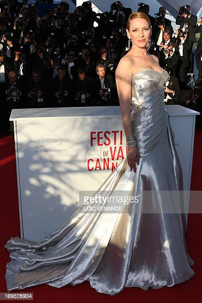 US actress Uma Thurman poses on May 26 2013 duringa photocall at the 66th Cannes film festival in Cannes AFP PHOTO / LOIC VENANCE