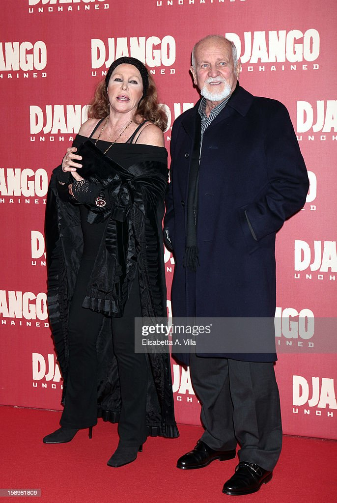 Actress Ursula Andress attends 'Django Unchained' premiere at Cinema Adriano on January 4, 2013 in Rome, Italy.