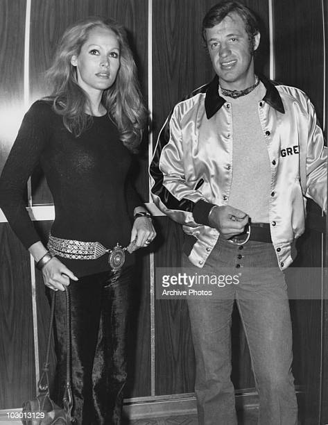 Actress Ursula Andress with actor JeanPaul Belmondo circa 1970 Andress and Belmondo were involved in a wellpublicised affair which led to Belmondo...