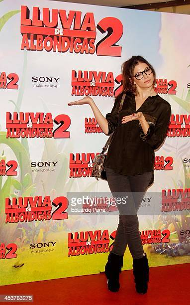 Actress Ursula Corbero attends 'Lluvia De Albondigas 2' photocall at Sony studios on December 5 2013 in Madrid Spain