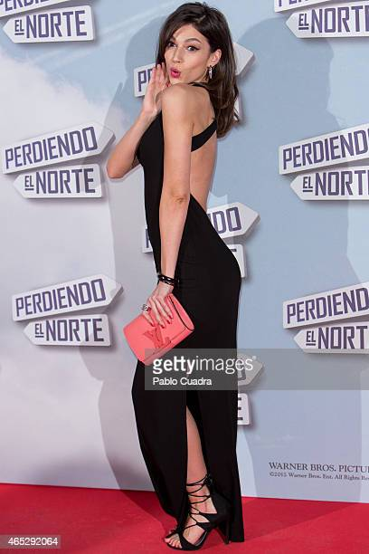 Actress Ursula Corbero attends 'Peridendo el Norte' premiere at Capitol Cinema on March 5 2015 in Madrid Spain