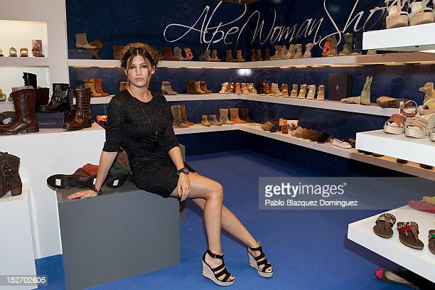 Actress Ursula Corbero presents springsummer 'Alpe' shoes collection at IFEMA on September 24 2012 in Madrid Spain