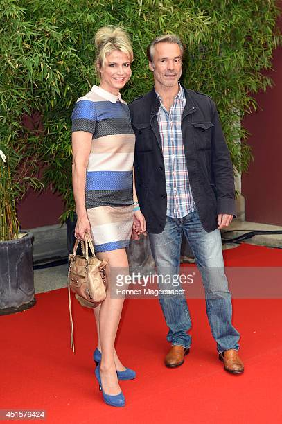 Actress Ursula Gottwald and Hannes Jaenicke attend the Bavaria Reception at the Kuenstlerhaus as part of the Munich Film Festival 2014 on July 1 2014...