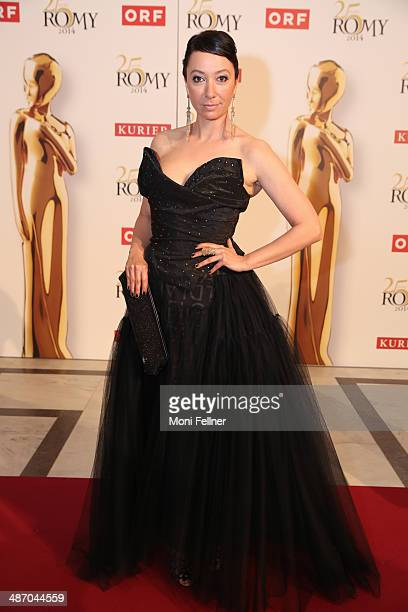 Actress Ursula Strauss attends the Romy Award 2014 at Hofburg Vienna on April 26 2014 in Vienna Austria