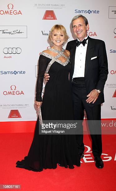 Actress Uschi Glas and her husband Dieter Hermann arrive for the German Filmball 2011 at Hotel Bayerischer Hof on January 15 2011 in Munich Germany