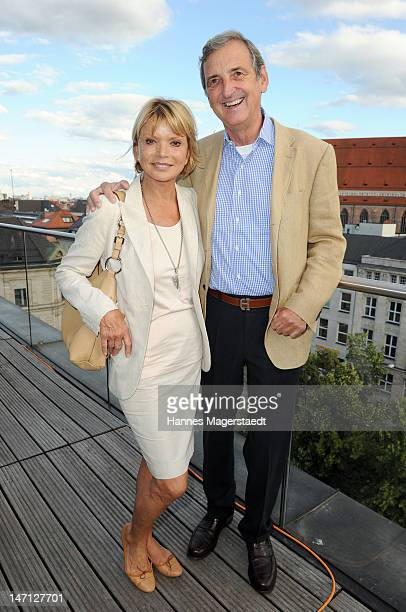 Actress Uschi Glas and her husband Dieter Hermann attend 'The Newsroom' Sky go premiere at the Hotel Bayerischer Hof on June 25 2012 in Munich Germany